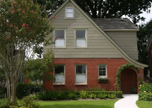 Exterior color to complement red orange brick - Exterior brick and siding combinations ...