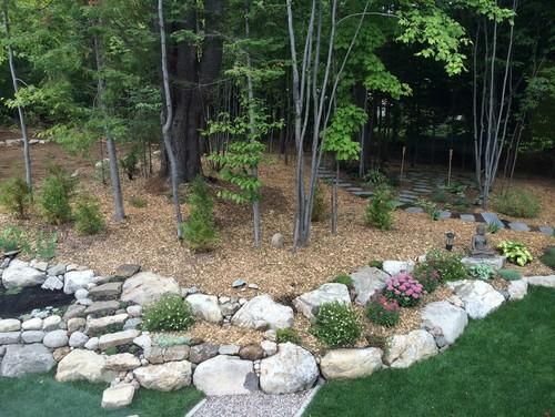 Can A Stone Garden Wall Look Contemporary?