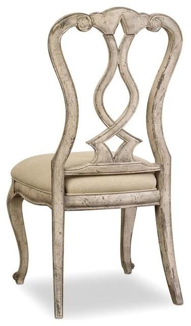 Hooker Furniture Chatelet Gray Splatback Chairs, Set Of 2, Side.