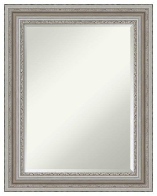 Wall Mirror Bathroom Vanity Mirror Parlor Silver Outer Size 24 X 30 Farmhouse Bathroom Mirrors By Buildcom Houzz