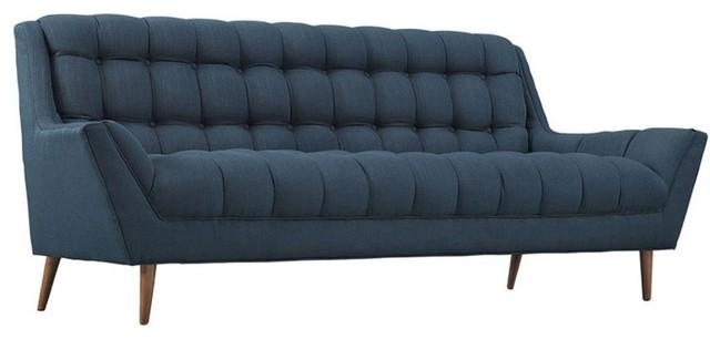 Response Upholstered Fabric Sofa, Azure.