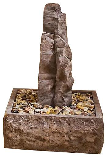 Sedona Rock Outdoor Cast Stone Garden, Small Outdoor Rock Fountains