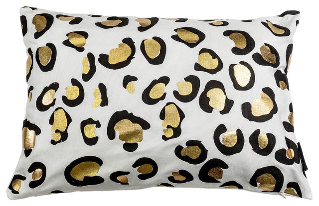 Aoi Kensie Decorative Pillow, Lumbar White Gold.