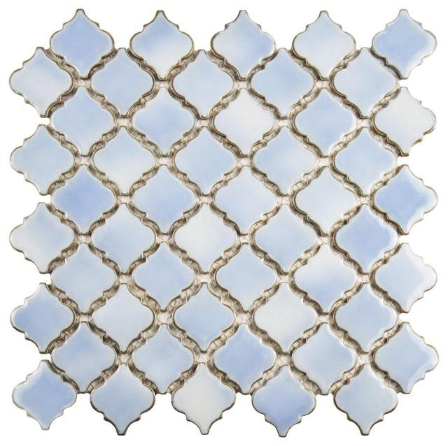 12 38 Quot X12 5 Quot Mykonos Porcelain Mosaic Floor Wall Tile
