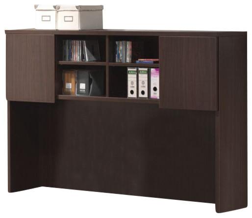 Acme Furniture Acme Fair Oak Desk Hutch with 2 Cabinet Doors, Espresso ...