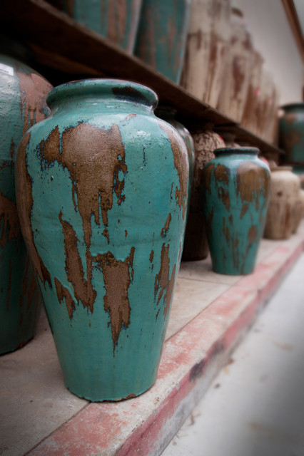 Rustic Glazed Pots - Outdoor Decor - Sacramento - by ...