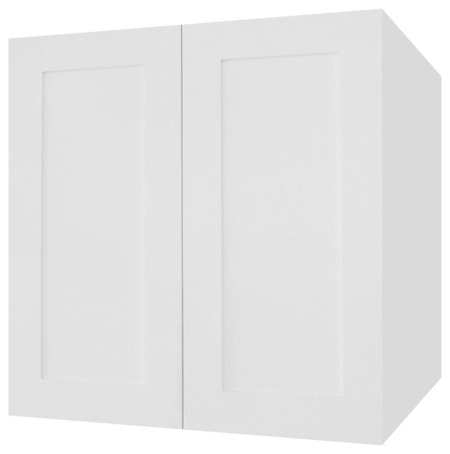 Ice White Shaker Kitchen Wall Cabinet - Contemporary - Kitchen ...