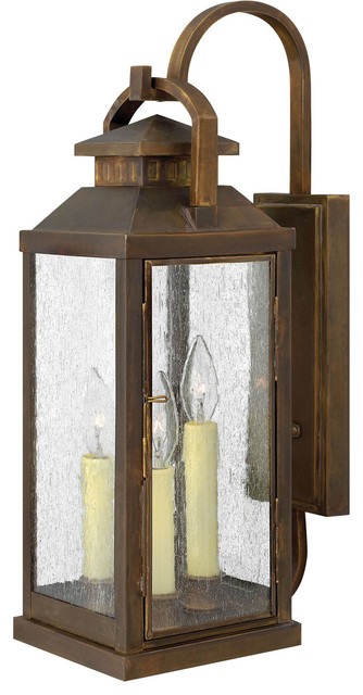 Revere 3-Light Outdoor Wall Lights, Sienna.