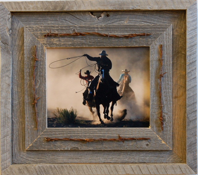 Laramie Rustic Barn Wood Picture Frame Quality Western Frames 8x10