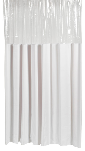 Window Vinyl Shower Curtain Contemporary Shower Curtains By Carnation Home Fashions
