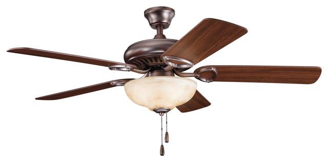 "Kichler Lighting 339211obb Sutter Place Oil Bronze 52"" Ceiling Fan."