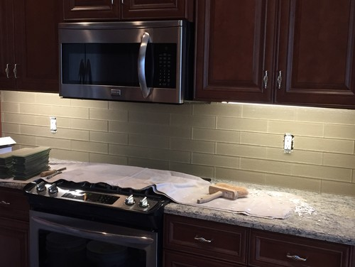 Kitchen backsplash grout or no grout Backsplash or no backsplash