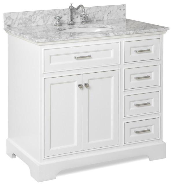 bathroom vanity carrara and white 36 traditional bathroom vanities