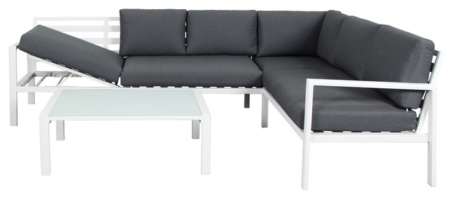 Cannes Sectional Sofa With Recliner Set.