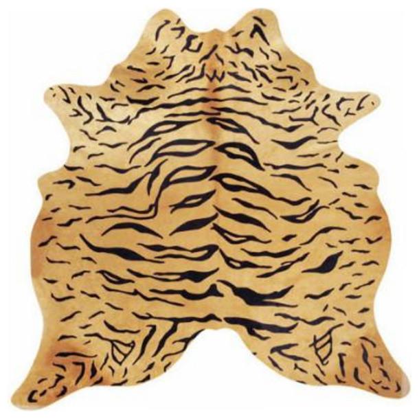 Pergamino Tiger Cowhide Rug.