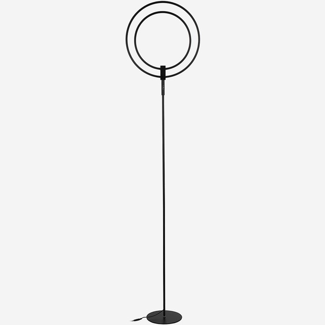 Brightech Eclipse LED Floor Lamp, Silver