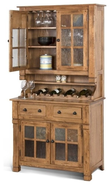 ... China Cabinet, Rustic Oak - China Cabinets And Hutches - by Homesquare