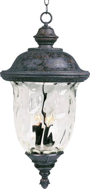 Carriage House Vx 3-Light Outdoor Pendants/chandeliers, Oriental Bronze.
