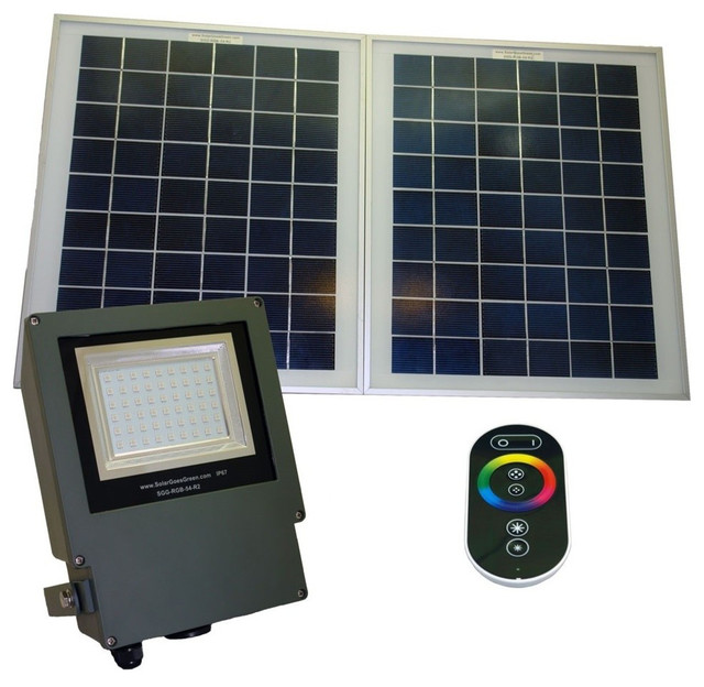 Outdoor Solar Powered Remote Controlled Color Changing LED