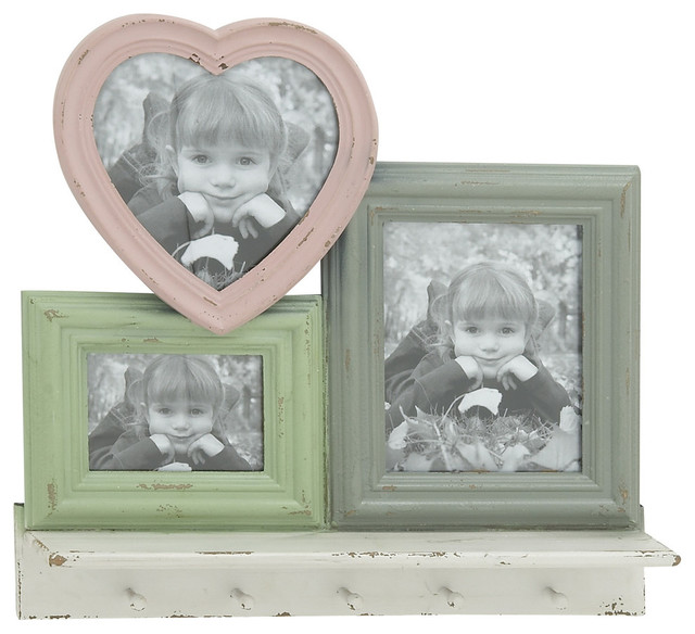 Attractive wood wall hook photo frame eclectic picture frames by zeckos - Eclectic picture frame wall ...