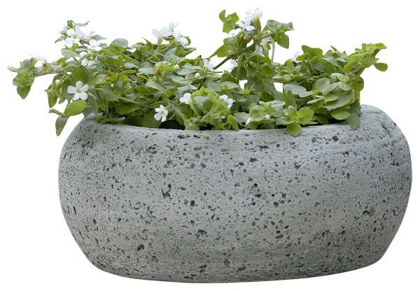 Kira Planter, Campania Cast Stone Garden Art Industrial Outdoor Pots And