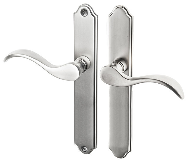 Swing Door Dummy Handle Set For Multipoint Locks With 7.874 CTC Screwholes