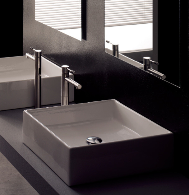 bathroom sinks modern modern square white ceramic bathroom vessel sink modern 11490