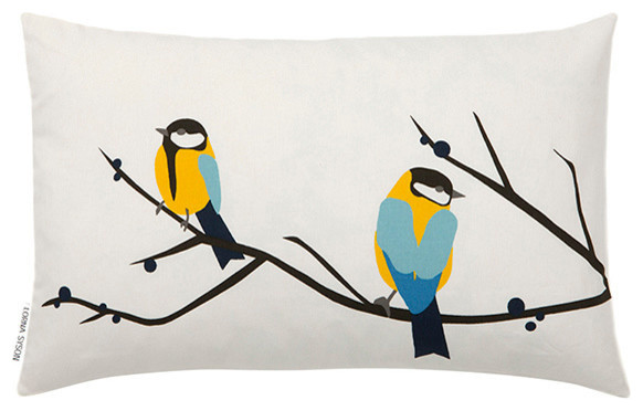 Juneberry And Bird Cushion Cover.