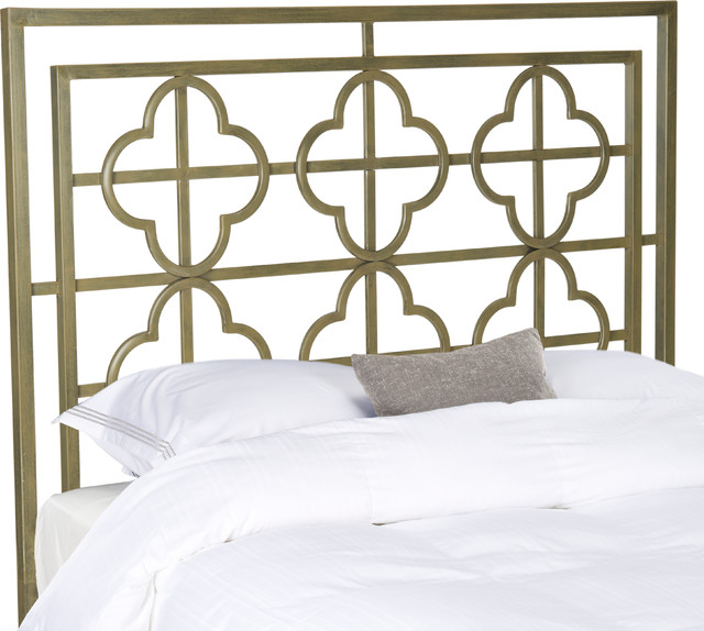 Safavieh Lucina French Silver Metal Headboard, Queen.