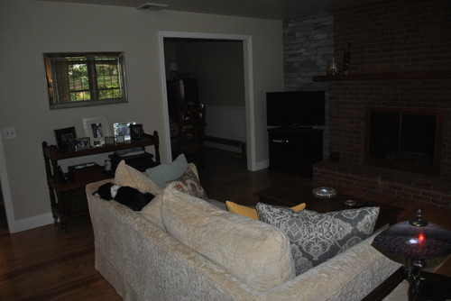Dark Living Room. And Lack Of Wall Space