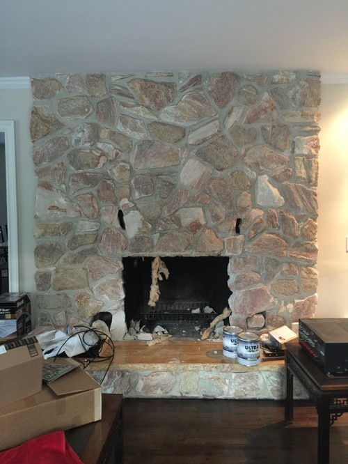 Our 1980 S Stone Fireplace