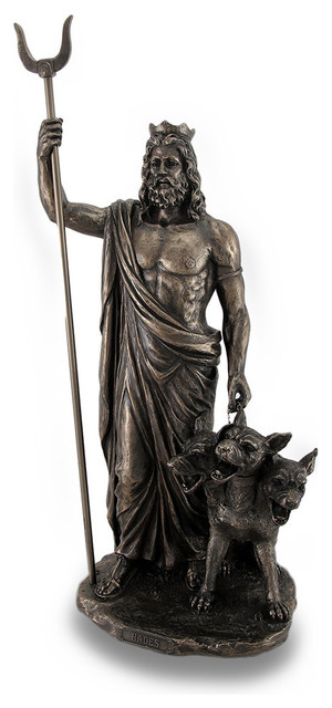 Zeckos Greek God Of The Underworld Hades Bronze Finished