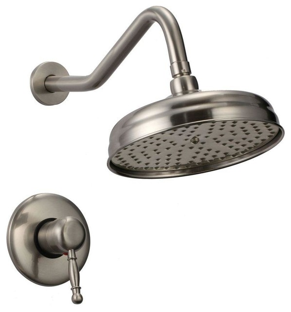 caius 1handle rainfall shower faucet brushed nickel