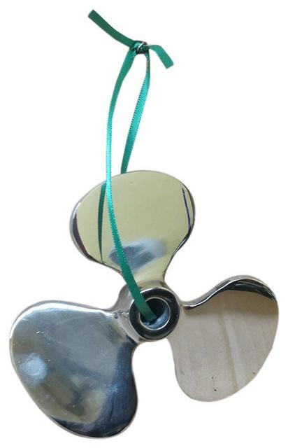 Chrome Decorative Propeller Christmas Ornament 6' - Decorative Ornament - Nau