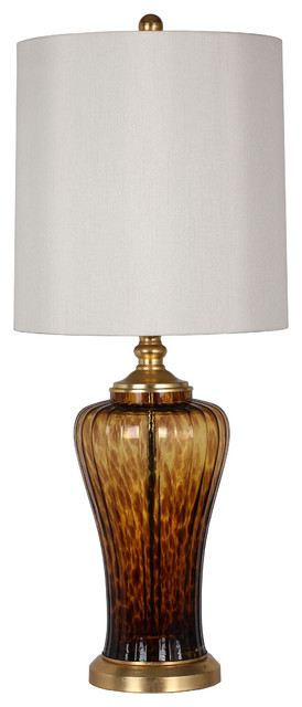 Eloise Tortoise Glass 36 Lamp Transitional Table Lamps By Zuhaus
