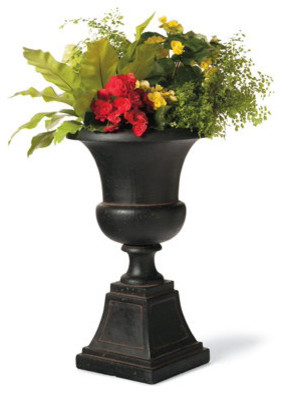 Genevieve Urn In Charcoal Traditional Outdoor Pots And Planters