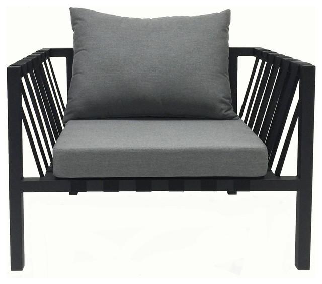 Amazing Sean Outdoor Armchair, Black