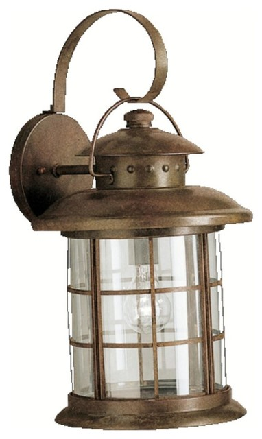 Kichler Lighting Rustic 1-Light X-Large Outdoor Wall Sconce - Beach ...