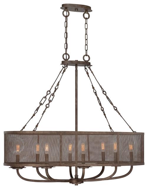 Savoy house 8 light standard bulb island light in galaxy bronze reviews houzz - Industrial kitchen island lighting ...