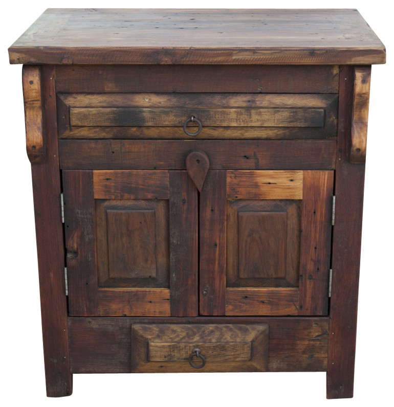 Reclaimed Wood Vanity Single Sink Rustic Bathroom Vanities And Sink Consoles By Foxden Decor Houzz