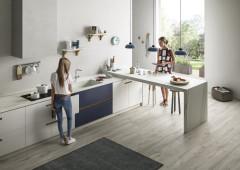 Как (если не треугольником) располагать мебель на кухне (18 photos)