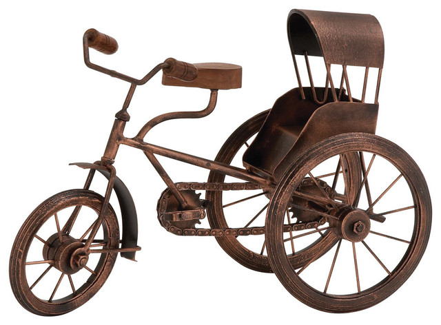 58816826510 Brecken Metal Tricycle Sculpture - Rustic - Kids Toys And Games - by  Brimfield & May