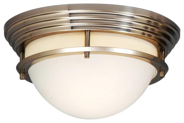 Foyle Silver Flush-Mount Ceiling Light.