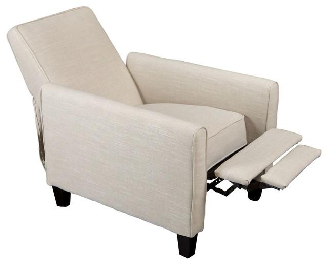 Hinus Smoky Reclining Club Chair, Light Beige