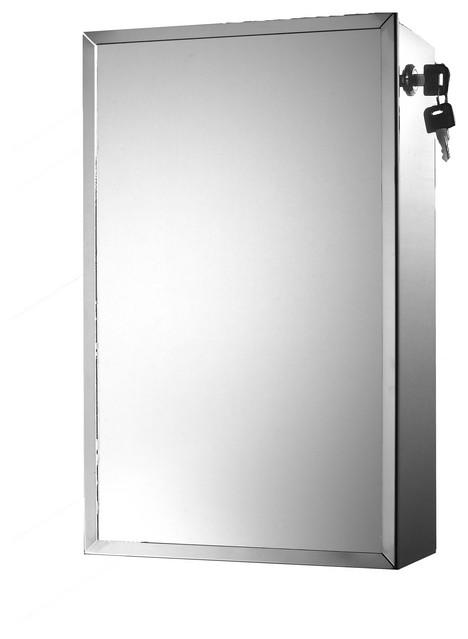 "Lockable Series Medicine Cabinet, 9.75""x15.75"", Side Lock"