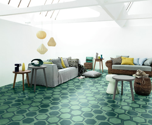 BISAZZA CEMENTILES - ON/OFF TEAL