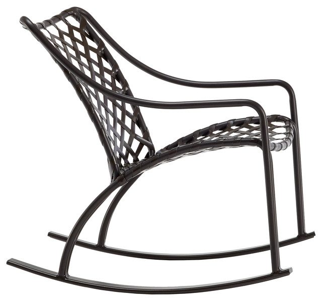 Belmont Outdoor Rocking Chair Blue And Navy