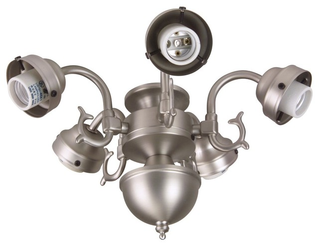 Craftmade 5 Light Led Universal Fan Light Kit Antique Brass Traditional Ceiling Fan Accessories By Lighting And Locks