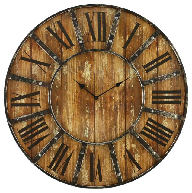 Edmonson Wall Clock Farmhouse Clocks By Aspire