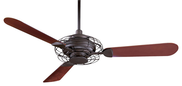 Ceiling Fan, Oil Rubbed Bronze With Opal Frosted Glass.